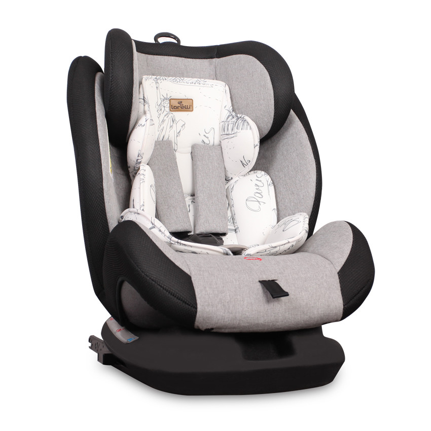Corsica isofix autosedačka 0-36kg - Black&Grey Cities